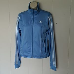 Adidas lt blue racing stripe track jacket mesh SM